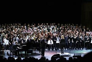 Gospelfest i konserthuset. Som vanligt en mäktig uppvisning i körsång.