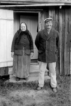 Erik Nilssons mormor och morfar.