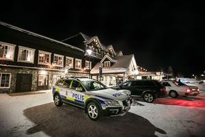 Poliserna som fanns på plats på Vemdalsskalet behövde bara göra några enstaka ingripanden.