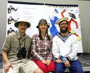 Per Hjalmarsson, Sara af Klintberg och Olle af Klintberg utgör trion Bära båten.