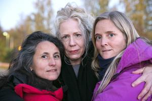 Carla Dahlberg, Catharina Enhörning och Bettina Bergknecht är hemma efter hjälpresan till Grekland.