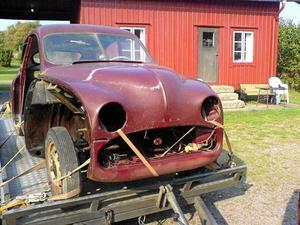 Innan renovering. Per-Anders Carlsson har lagt ner 400 timmar och minst 90 000 kronor på att renovera bilen. Målet var att få den i originalskick.Foto: Privat