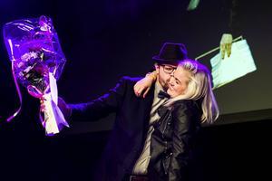 Förra årets nyföretagare, kockarna  Peter Eriksson och Linnea Liljedahl.