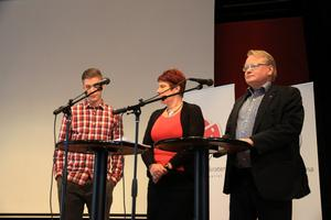 Viktor Nordström, Maria Strömkvist och Peter Hultqvist svarade på frågor angående jobb som hade skickats in av människor i Dalarna.