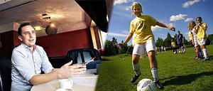 Fotboll varje dag? I alla fall någon form av motion på schemat dagligen i skolan, tycker Tomas Tobé.
