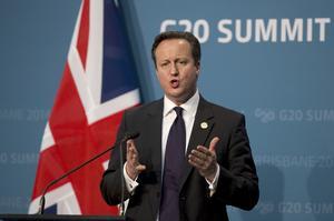 David Cameron, Storbritanniens premiärminister.