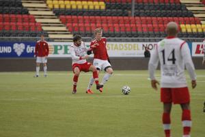 Tom Perman (här i matchen mot Anundsjö) blev kvitteringshjälte för sitt IFK när laget fick 1–1 mot Boden.