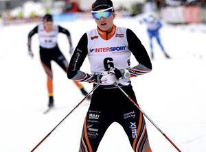 Maja Dahlqvist, Falun-Borlänge, en av av de svenska åkarna i den så kallade nationella gruppen i helgens världscuptävlingar i Falun.