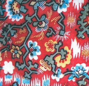 Livstycket från Lillhärdal har mönster som påminner om formspråket hos graffitikonstnären Keith Haring, men kommer från tidigt 1800-tal. Det finns i dag på Nordiska museet. Bilden är hämtad från boken.