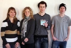 Sabine Lundqvist, Hanna Näsman, David Ottosson och William Wiklund var kombinationen som kunde mest om klimat och miljö i Västernorrland.