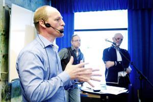 Robert Sivas Karlsson från Arbetsförmedlingen berättade om arbetsmarknadsläget i Gävle.