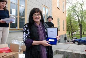 Marielle Mattisson blev den lycklige vinnaren av första priset i  tipspromenaden ca340e2dc328a