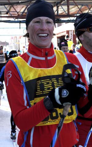 Den före detta löparen, Malin Ewerlöf-Krepp, åkte Vasaloppet.