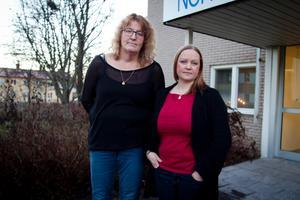 Stressade. Carina Gäfvert och Ulrika Heydeck är båda undersköterskor i hemtjänsten. Stressen påverkar deras arbetsdagar varje dag då inte personalstyrkan räcker till.