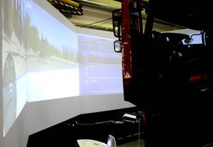 På Adevotech utvecklas bland annat simulatorer för lastbilstrafik.