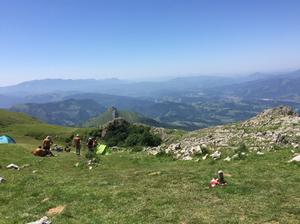 Utsikten från en av flera bergstoppar som Anette Jonsson sprang över. Här efter 103 kilometer.