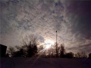 Den här bilden tog jag på Haga i Västerås en kall vinterdag när solen var på väg ned.
