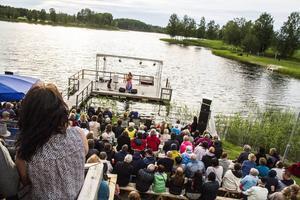 Thomas Di Levas kväll har dragit flest gäster än så länge på viskvällarna vid Rångsjön i år.