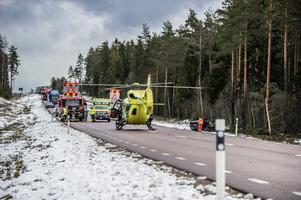 Larmet om olyckan kom strax innan klockan 09.00 på onsdagsmorgonen.