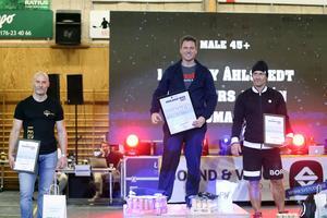Thomas Holm, Benny Åhlstedt och Anders Amrén var bäst i herrarnas +45-klass.