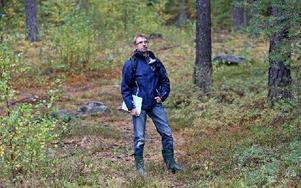 Hans Johansson efter vägen mot Galgberget. Foto: Johnny Fredborg