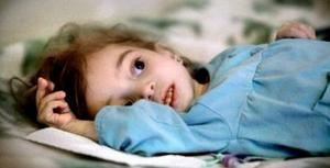 Det här är en arkivbild på dödsjuke Rim. Hon är två år på bilden.
