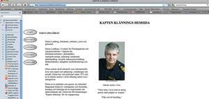 Så här såg Göran Lindbergs, eller Kapten Klänning som han kallades, hemsida ut innan den stängdes i tisdags.