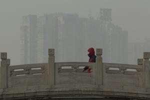 Smog har blivit ett stort problem i Beijing, Kina.