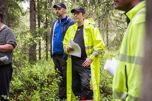 Urban Broberg från Los och Nille Nilsson från Edsbyn var två av skogsmaskinförarna på Stora Ensos utbildningsdagar.