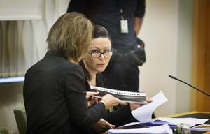 Johanna Möller gav ett sammanbitet intryck under rättegångens första dag.