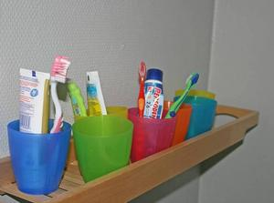 På plats. Sängar, namnskyltar och tandborstar är på plats. Nu saknas nästan inget i Rävlyan.