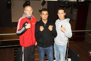 Det är dags för Fight Night på Söders Källa i Gävle. BK Falken arrangerar en gala där åtta matcher ska avgöras på lördagskvällen. Från Falken ställer bland annat från vänster Anton Hellström, Ahmed Ali och Emil Harrysson upp.