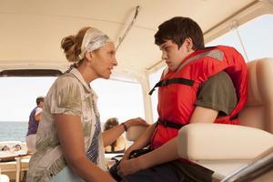 """Toni Collette och Liam James spelar mor och son i """"The Way, Way Back""""."""