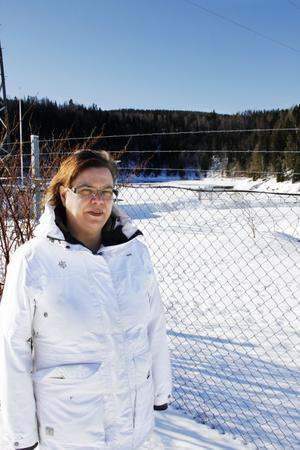 Vargspåren är många på andra sidan staketet. – Hon var så himla vacker. Jag har drömt om henne i natt, säger Susanne Björnebäck.