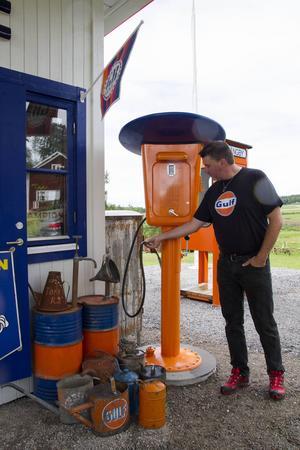 – Det här är en lite speciell pump, säger ägaren Kent Elmqvist.