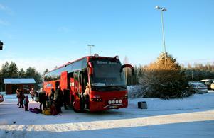 Transferbuss till Sälen.