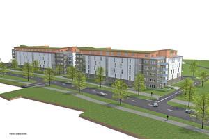 Concent ska bygga 300 lägenheter mitt emot arenorna på Gavlehov, i skogspartiet mellan Prolympia och ingången till Gävletravet.
