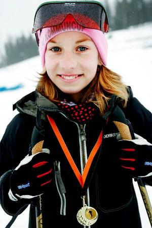 Emma Wasell från Mörsil hamnade på en fjärde plats  i D 12.