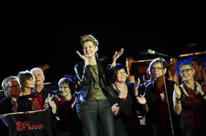 Karin Öberg med kraftfull pipa inledde kvällens konsert med