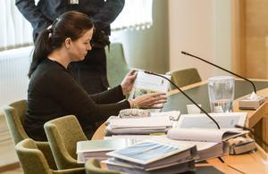 Under torsdagens tingsrättsförhandling fick Johanna Möller, som misstänks för morden och mordförsök, berätta om relationen med sin tidigare make som hittades drunknad i augusti 2015.