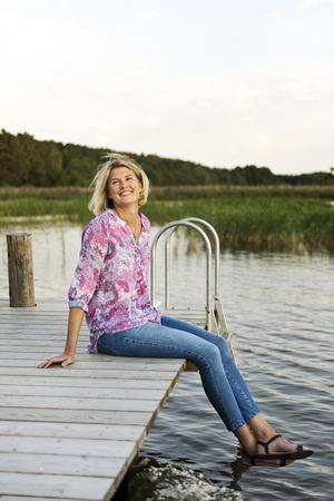 """Sixfeetup"". Namnet på Annakarin Österlunds blogg kommer från hennes egna stolta 183 cm.Foto: Sara Linderoth"