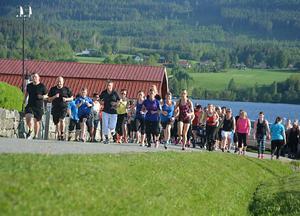 Walk for cancer genomfördes i kväll i Fränsta, och det ackompanjerat av högsommarvärme och strålande sol.