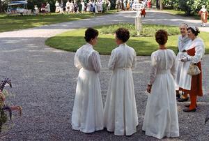 Tre värdinnor Maja Andersson, Maj Westerdahl, Ulla Jansson.