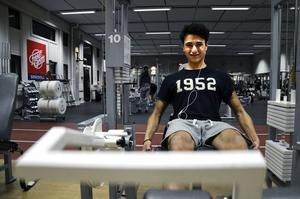 Sam Molabi slutade träna i somras men har nu kommit i gång igen.