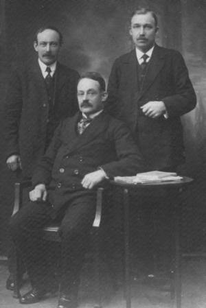 """Tre skutägare men bara två skeppare: Johan """"Bellman"""" Johansson, Johan Larsson och Carl Johansson. Johan Larssons"""