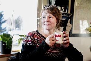 Lena Harrysson är förtjust  i restauranglokalen och har funderat ifall lokalen kunde byggas om.