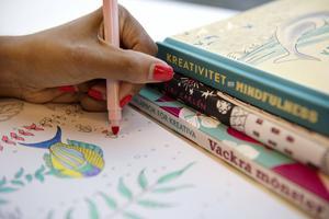 Flera av de mest populära målarböckerna för vuxna har mindfulness som uttalat tema. Arkivbild.
