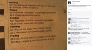 Agneta Colantoni (SD) gjorde det ursprungliga inlägget som sedan spreds. Under inlägget föreslår hon att kommunen