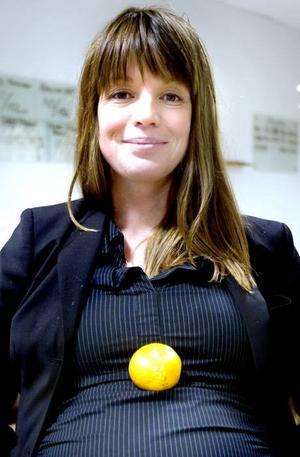 SUGEN PÅ CITRUS. Maria Wallström ska få sitt andra barn i januari. Hon har under båda sina graviditeter haft ett stort begär efter apelsinjuice, mandariner och grapefrukt.