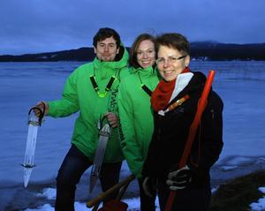 Till höger Helena Bywall tillsammans med Yttergren Utbildning Utekuls Sebastian Yttergren och Ellinor Carlsson.